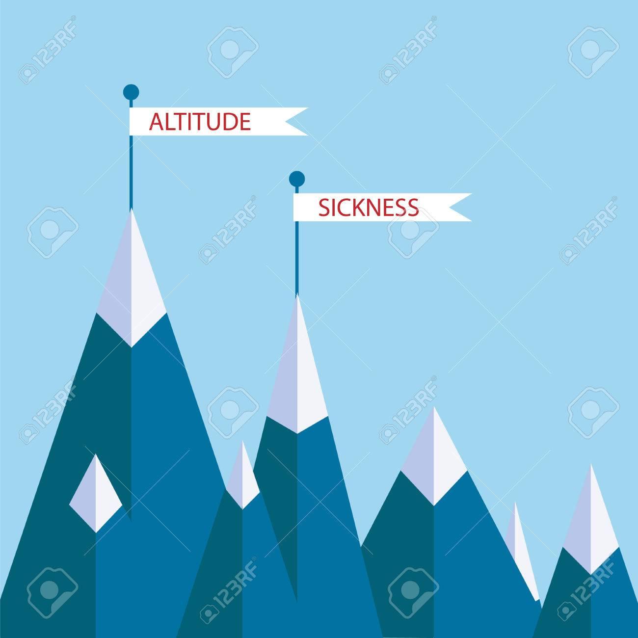 Altitude Sickness Mountains Concept Vector Illustration For - Sea level altitude