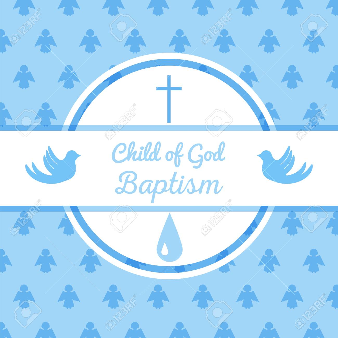 plantilla de tarjeta de invitación de bautismo ejemplo común del