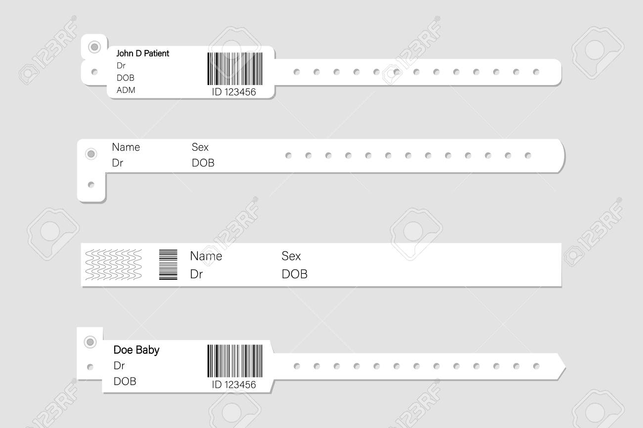 wristband template set stock vector illustration of white clean