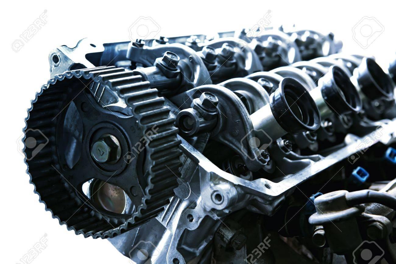 Auto Motor Innenansicht Isoliert über Weiß Lizenzfreie Fotos, Bilder ...