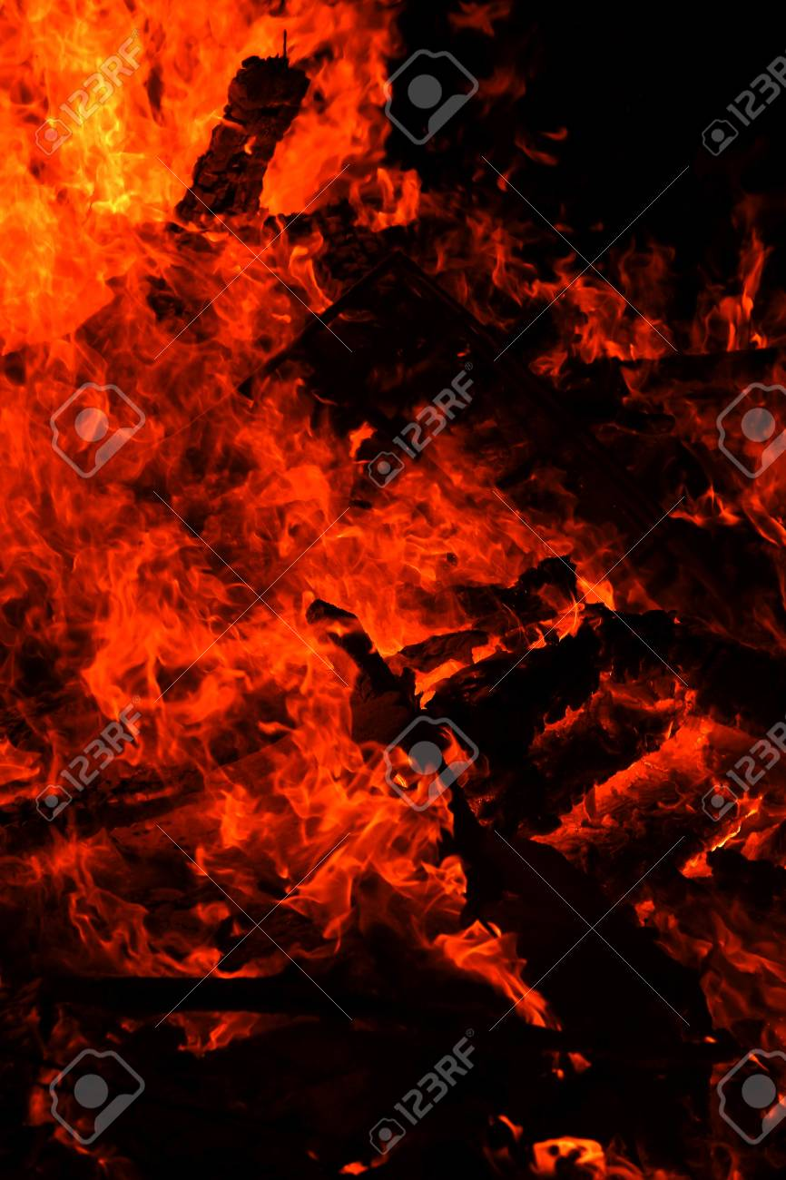 flame isolated over black background Stock Photo - 18668945