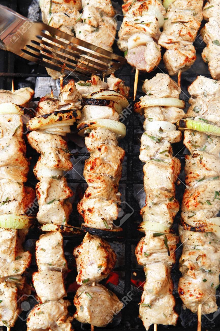 Saine Shish Kebab Poulet Grillé Barbecue Viande Turque Sur