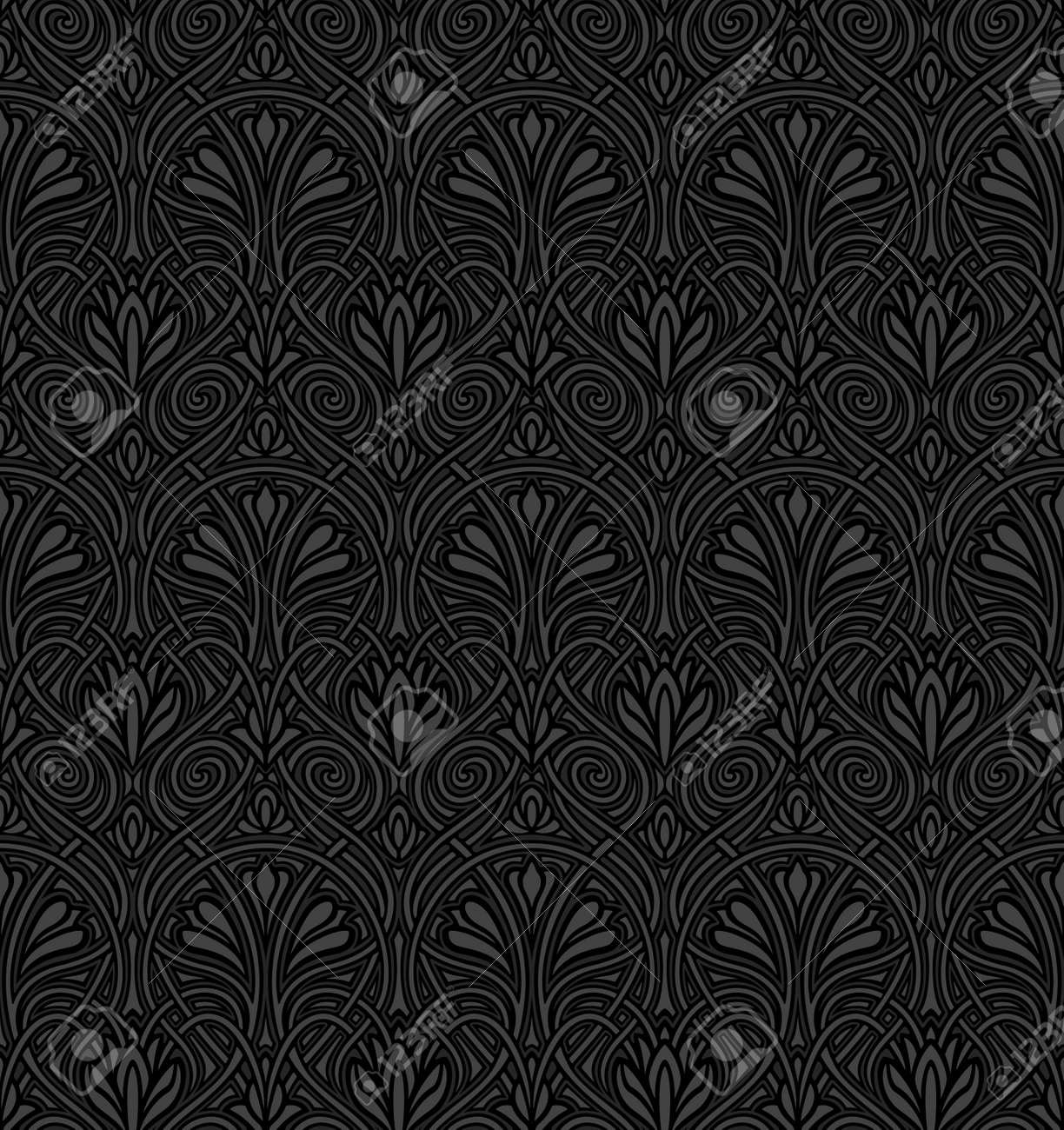Seamless Art Nouveau pattern Stock Vector - 11028769