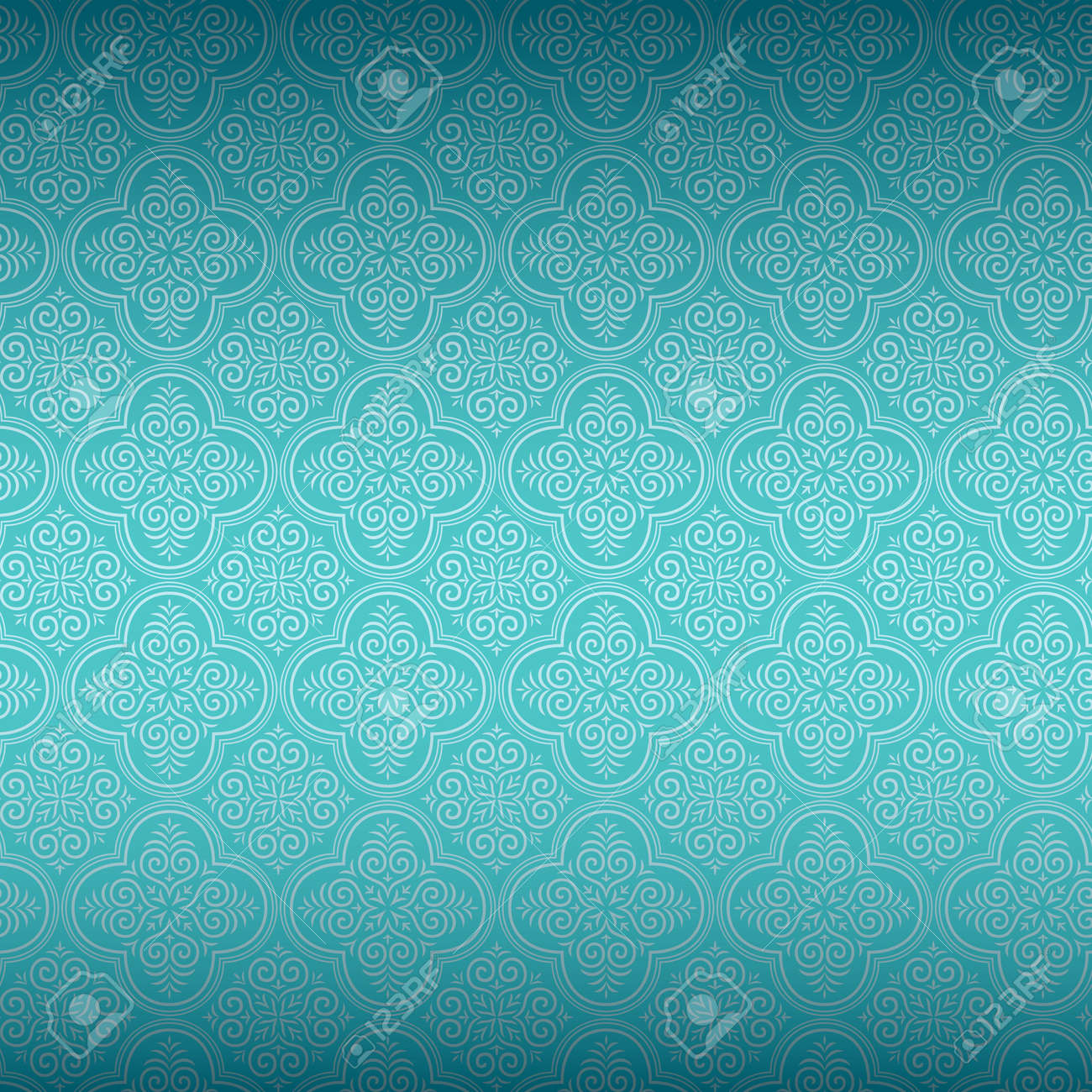 Turquoise Wallpaper Stock Vector Illustration And Royalty