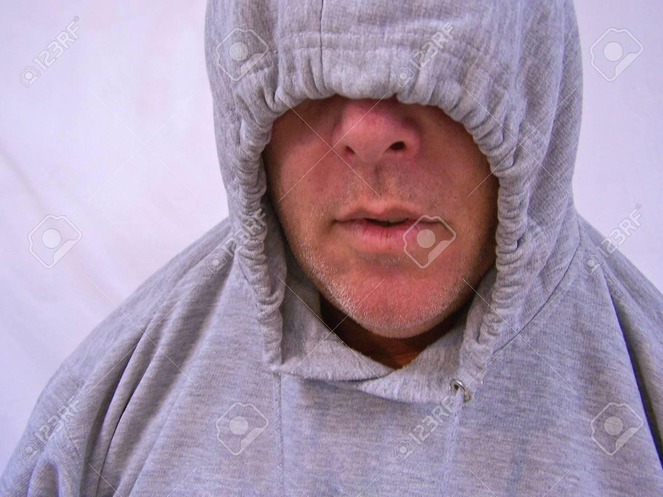 man with hooded sweatshirt Stock Photo - 3577689