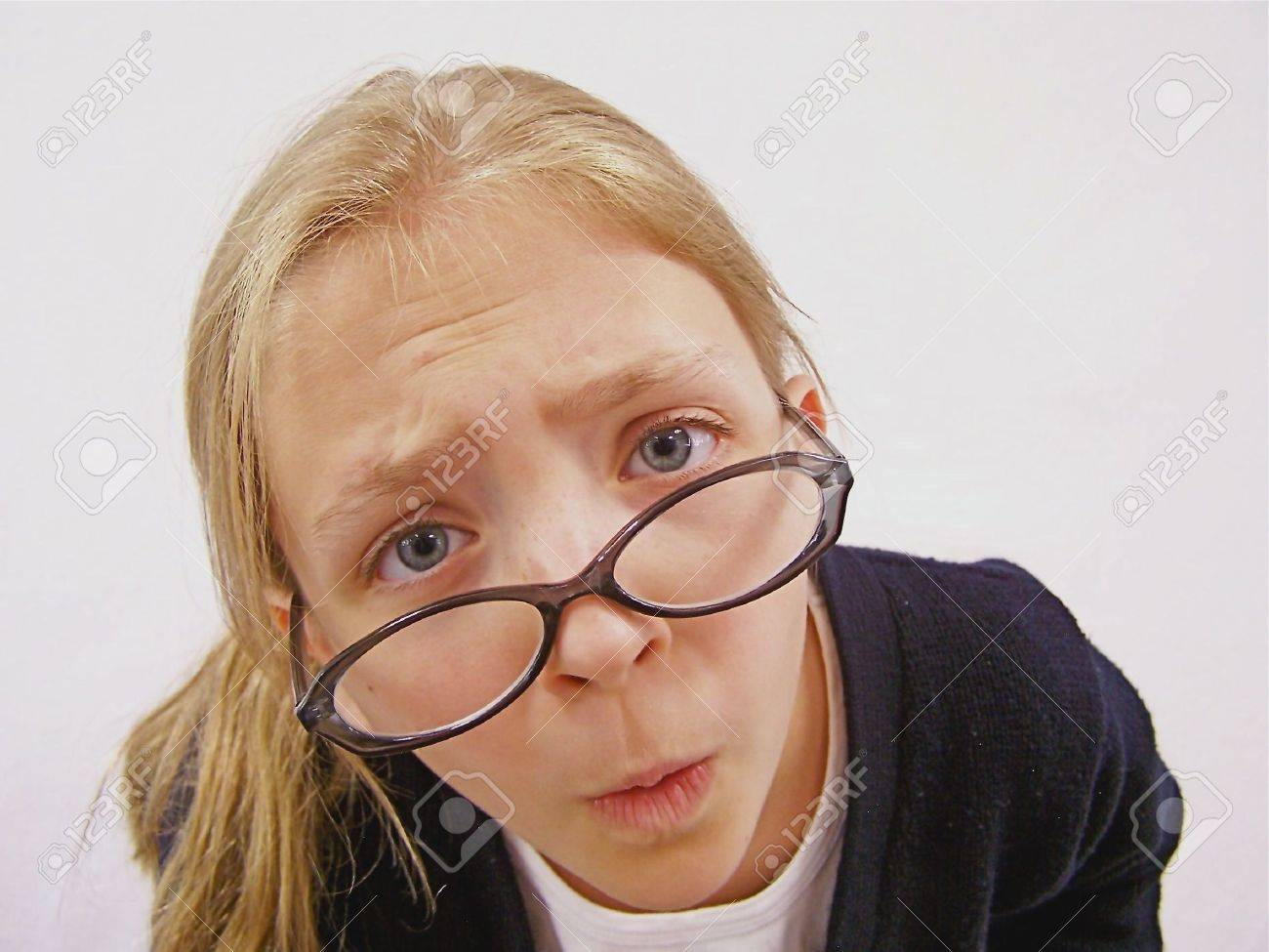 Funny face and glasses Stock Photo - 4472916
