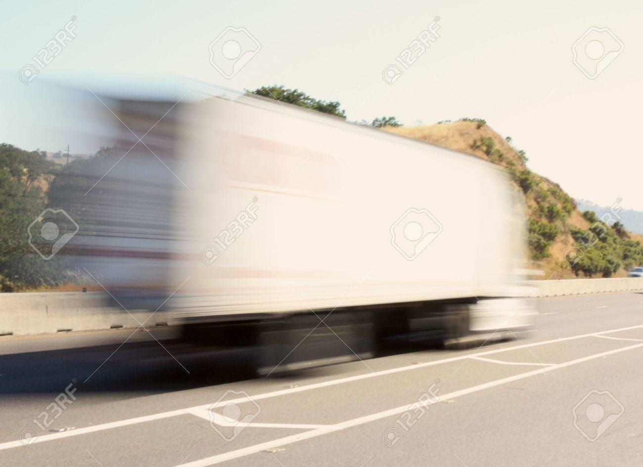 Speeding big truck Stock Photo - 7180360