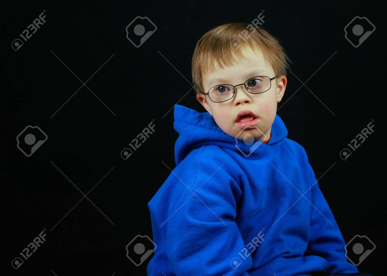 Little boy with Downs Syndrome Stock Photo - 9305650