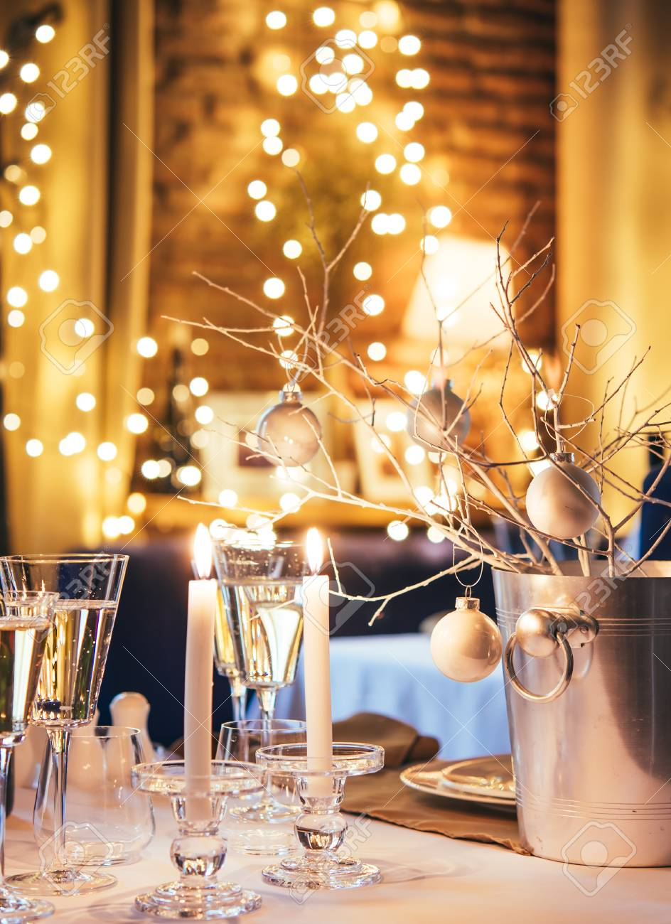 Christmas or New Year party table - 50540534