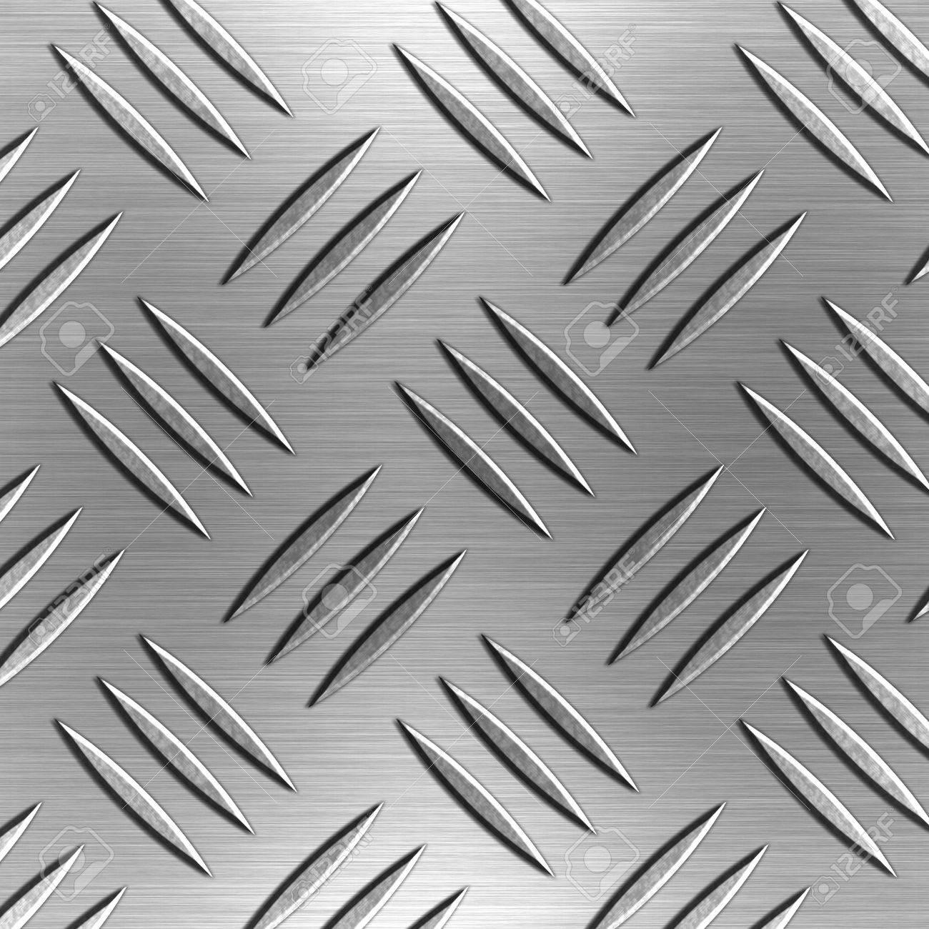 Shiny Silver Diamond Shaped Aluminium Plate Stock Photo - 967412