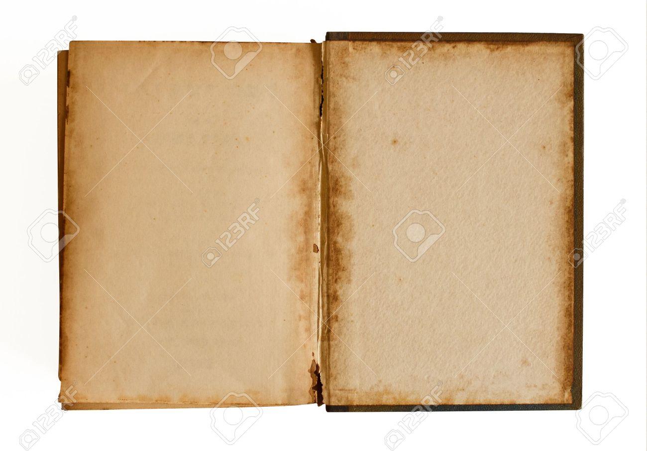 Vieux Livre Vide Pret Pour L Ecriture