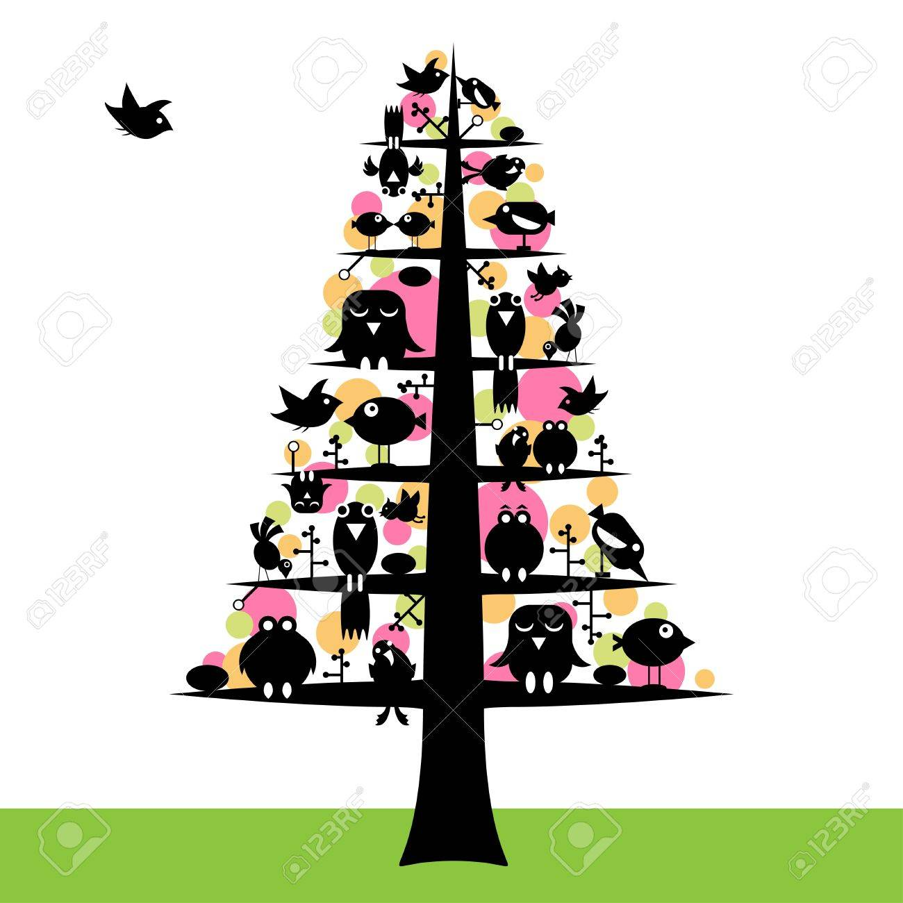 birds tree Stock Vector - 13111263