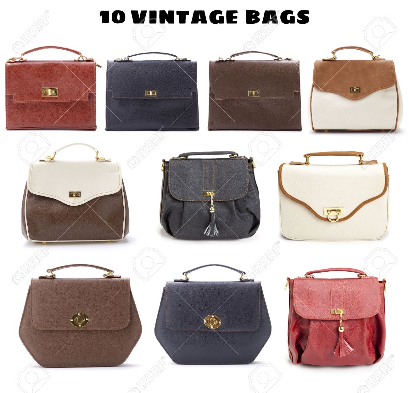 10 Beautiful Vintage Bags Stock Photo, Picture And Royalty Free ...