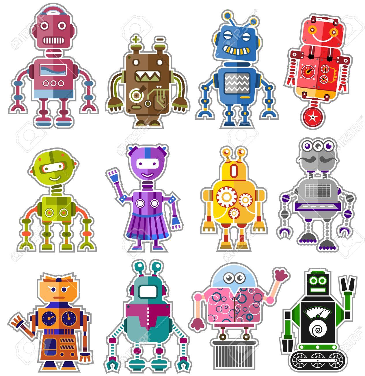 Cute Robot Icon And Cute Robots Robot