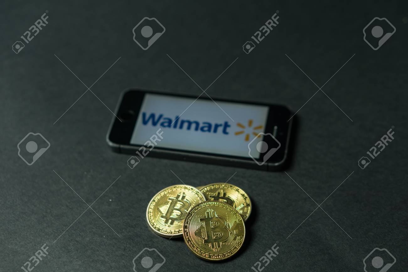 Walmart Stock Phone Number >> Bitcoin Coin With The Walmart Logo On A Phone Screen Slovenia