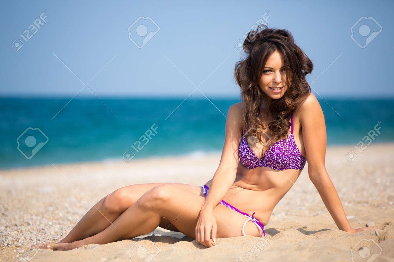 Schone madchen am strand