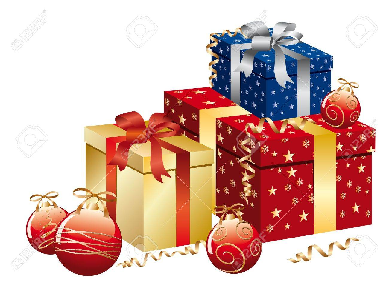 Christmas box in multicolors. Stock Vector - 10742302