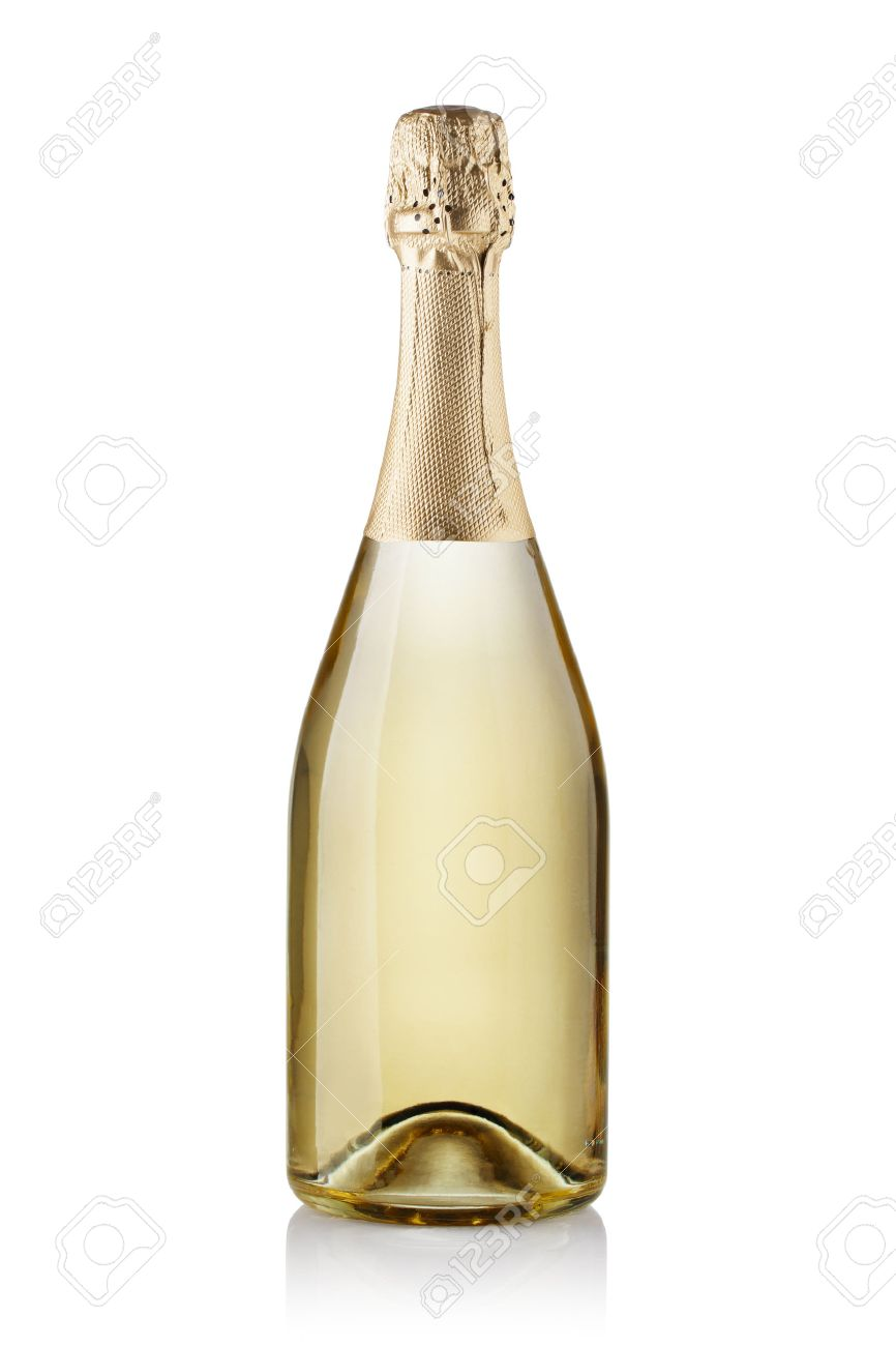 champagne bottle isolated on white background stock photo picture
