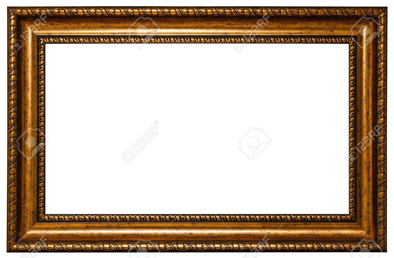 Antique golden frame isolated on white background antique golden frame isolated on white background 46270550 jeuxipadfo Gallery