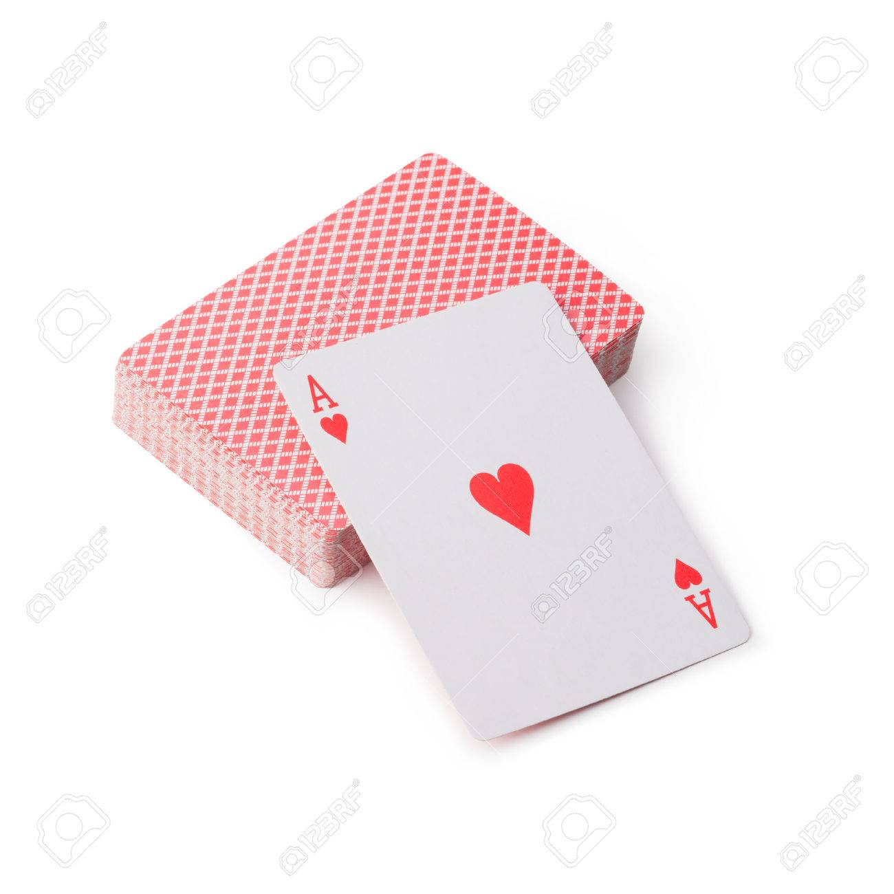 playing cards on white background - 51691432