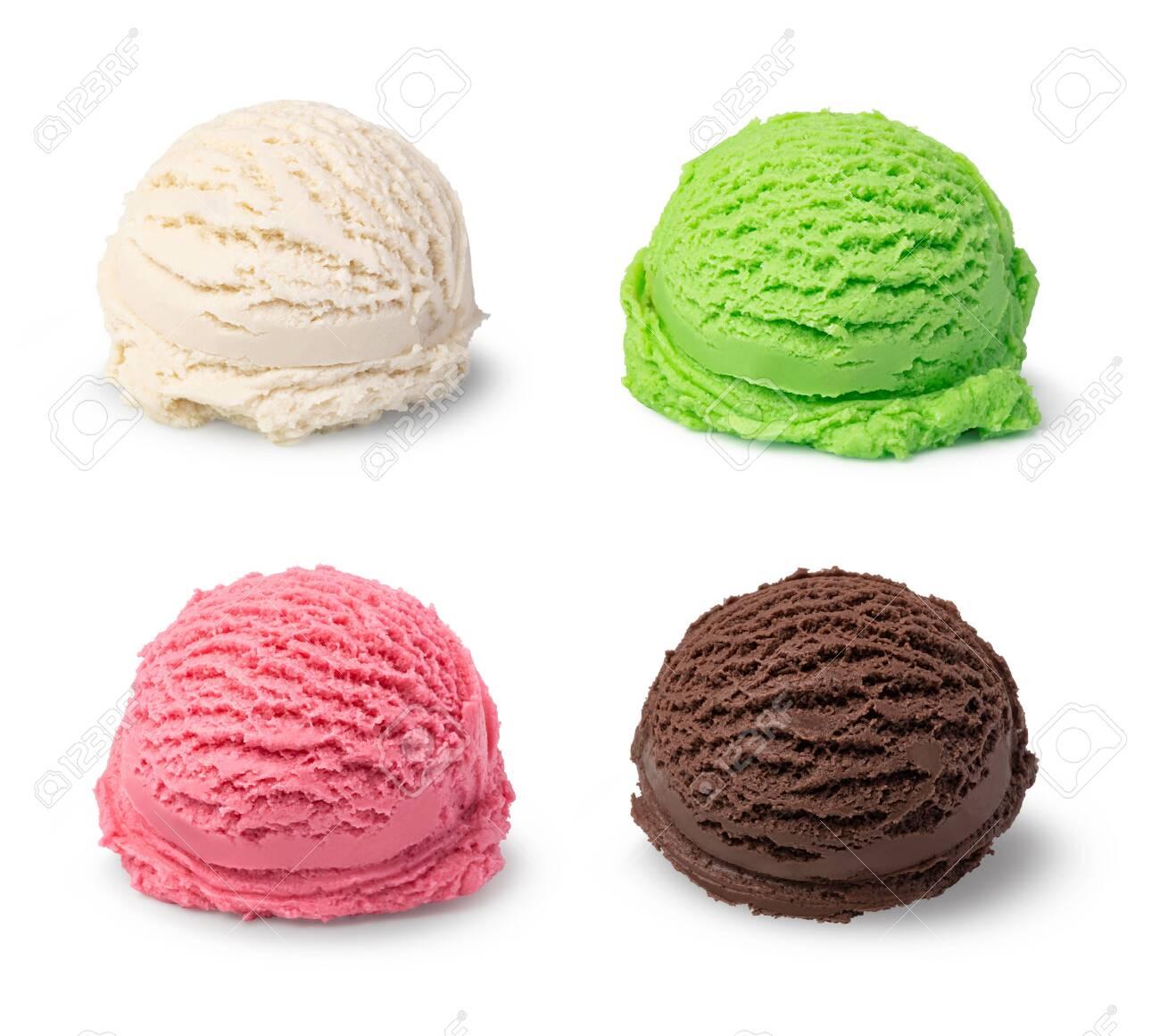 ice cream ball isolated on white background - 120863495