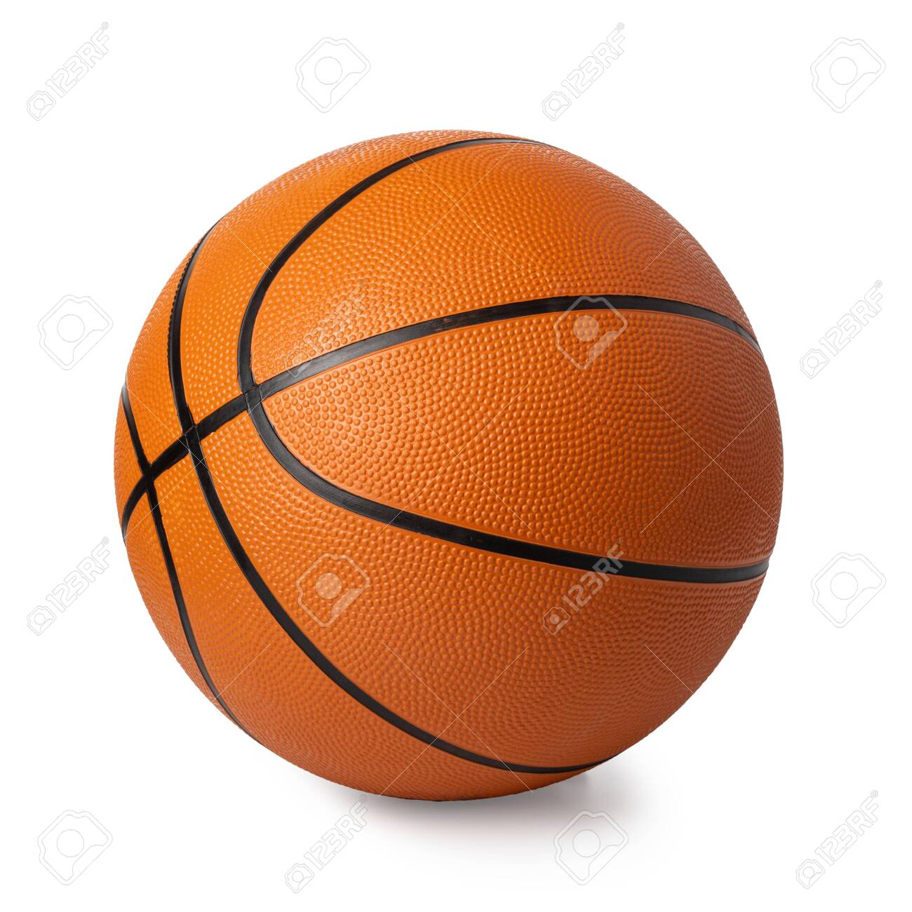 basketball ball isolated on white - 123398949