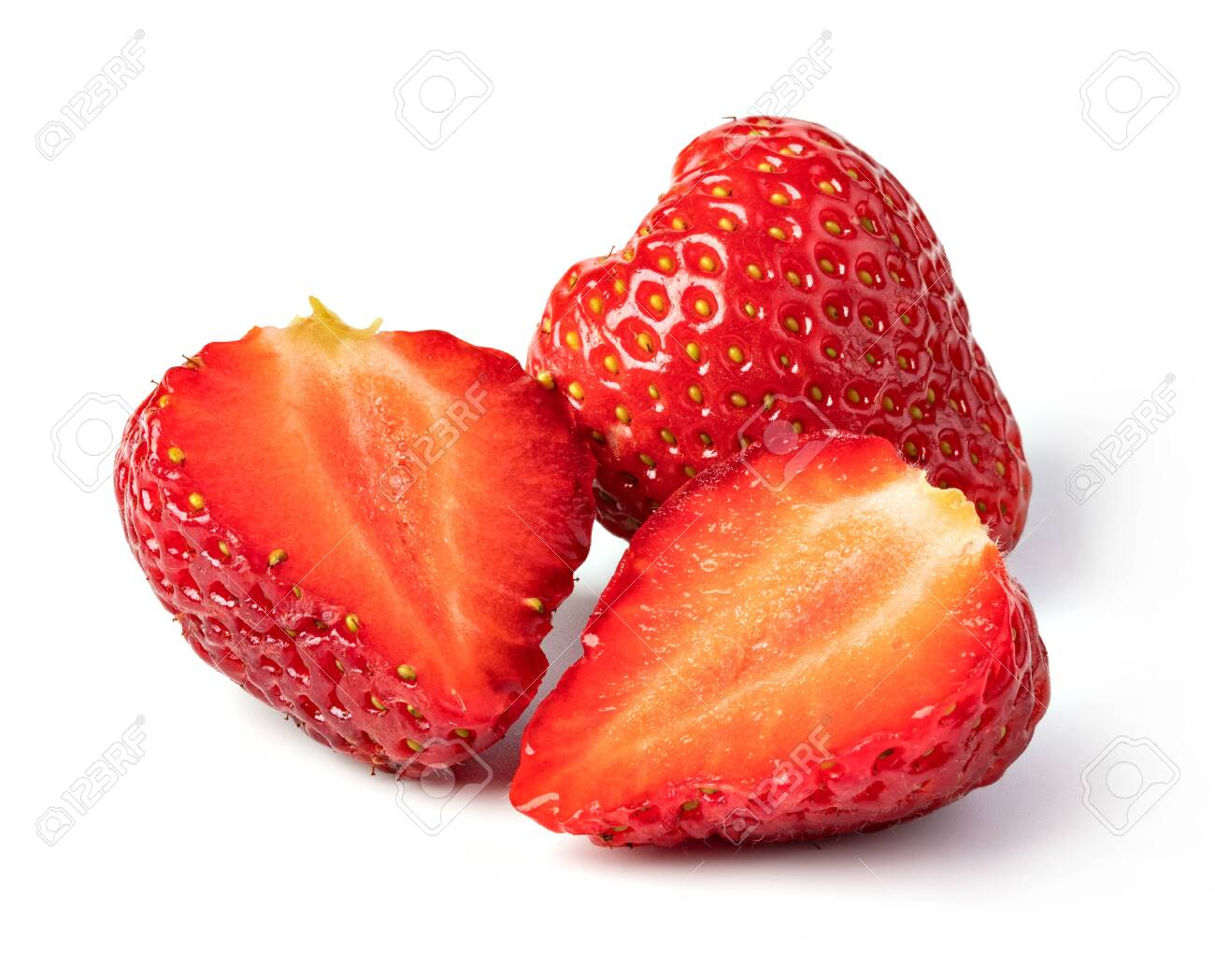 Strawberry isolated on a white background - 131534889