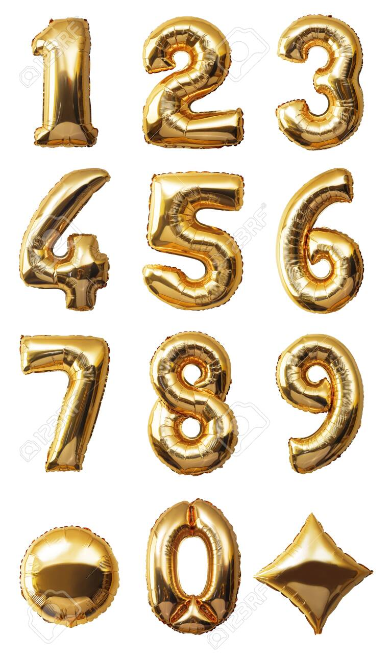 Balloons Numbers Isolated on white background - 131538315