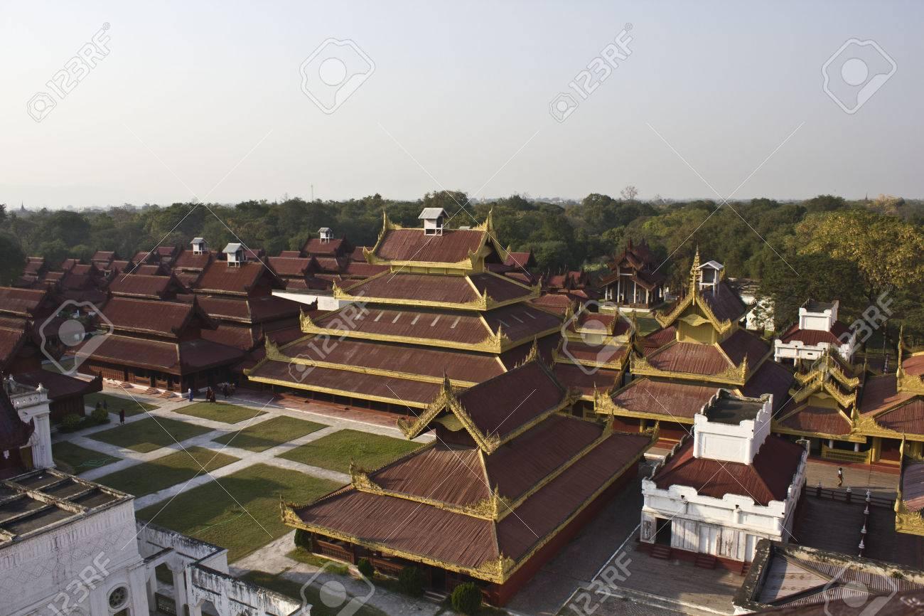 マンダレー, ミャンマー, にあるマンダレイ宮殿は宮殿が建設され、1857 ...