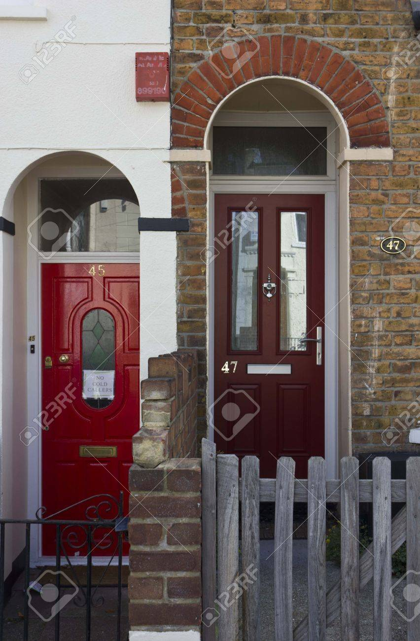 Traditional british house doors in London Stock Photo - 60816727 & Traditional British House Doors In London Stock Photo Picture And ...