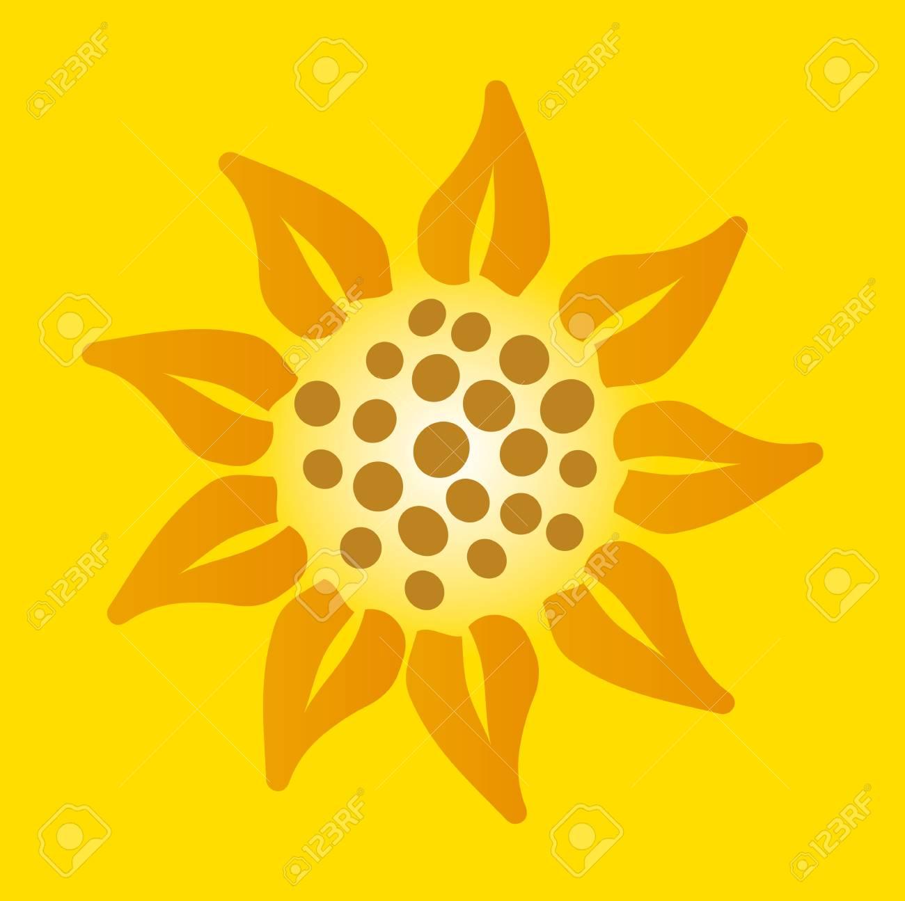 illustration of a sunflower Stock Vector - 15159990