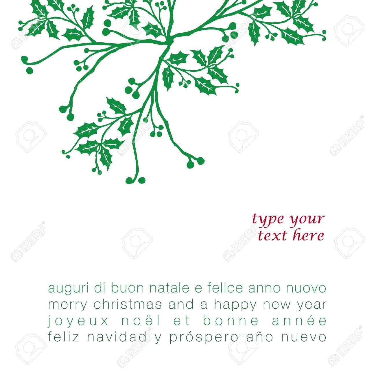 Weihnachtsgrüße In Verschiedenen Sprachen.Weihnachtsgrüße Mit Mistel In Verschiedenen Sprachen