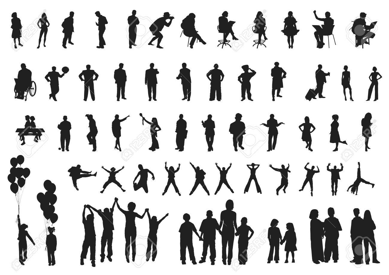 人物シルエット コレクション 3のイラスト素材ベクタ Image 23467458