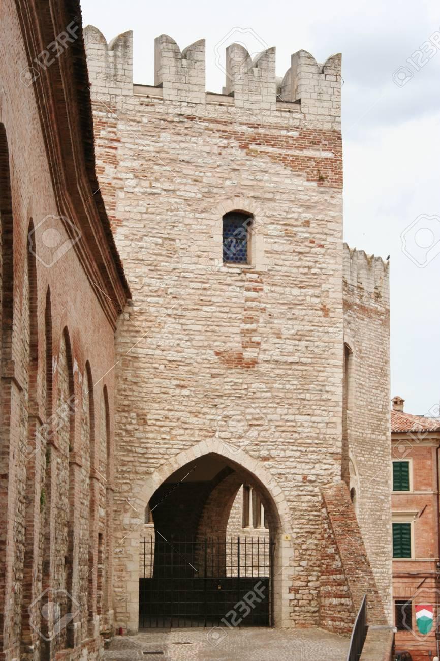 Terraza Del Palacio Del Señorío Marche Italia Central