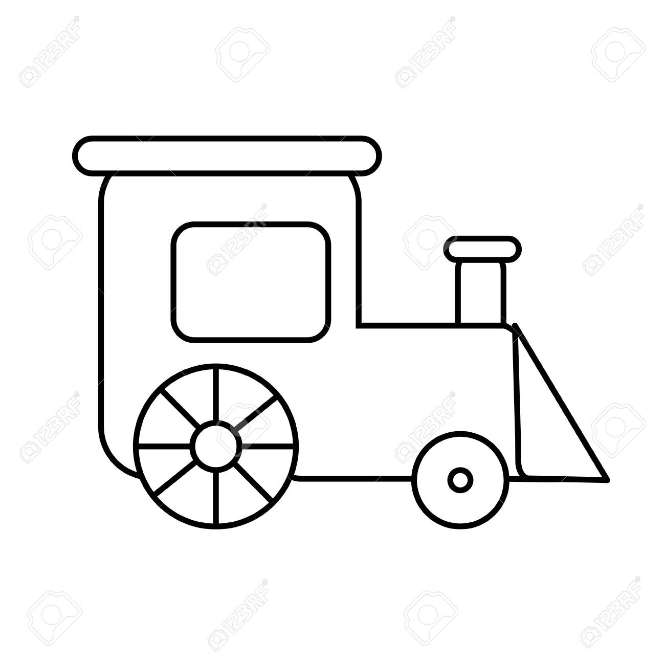 Coloring Page Outline Of Train Toy Simple Shapes Vector Illustration Royalty Free Cliparts Vectors And Stock Illustration Image 140908957