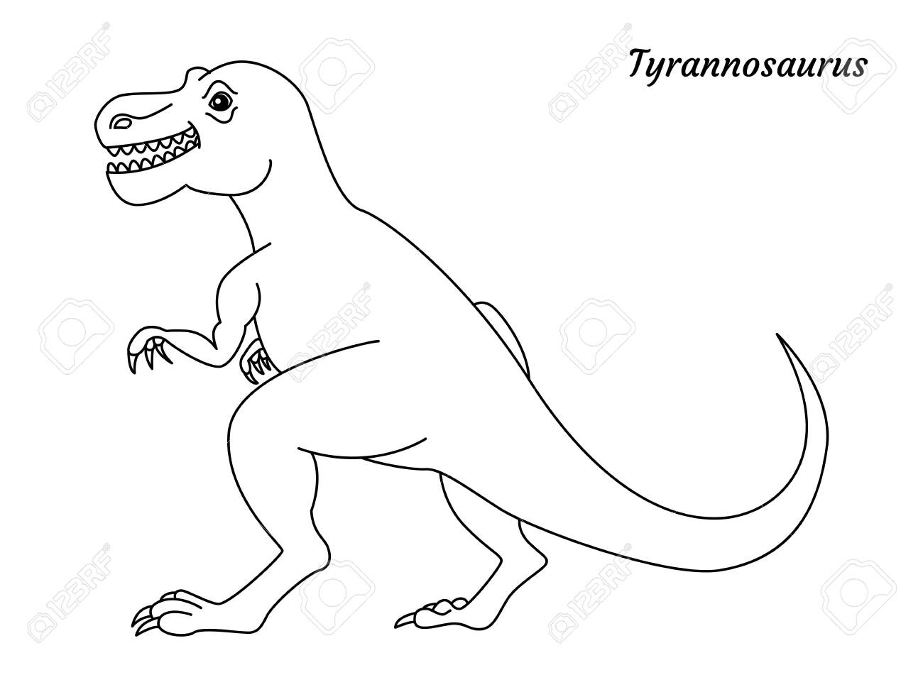 Coloring Page Outline Tyrannosaurus Dinosaur Vector Illustration Royalty Free Cliparts Vectors And Stock Illustration Image 143409974