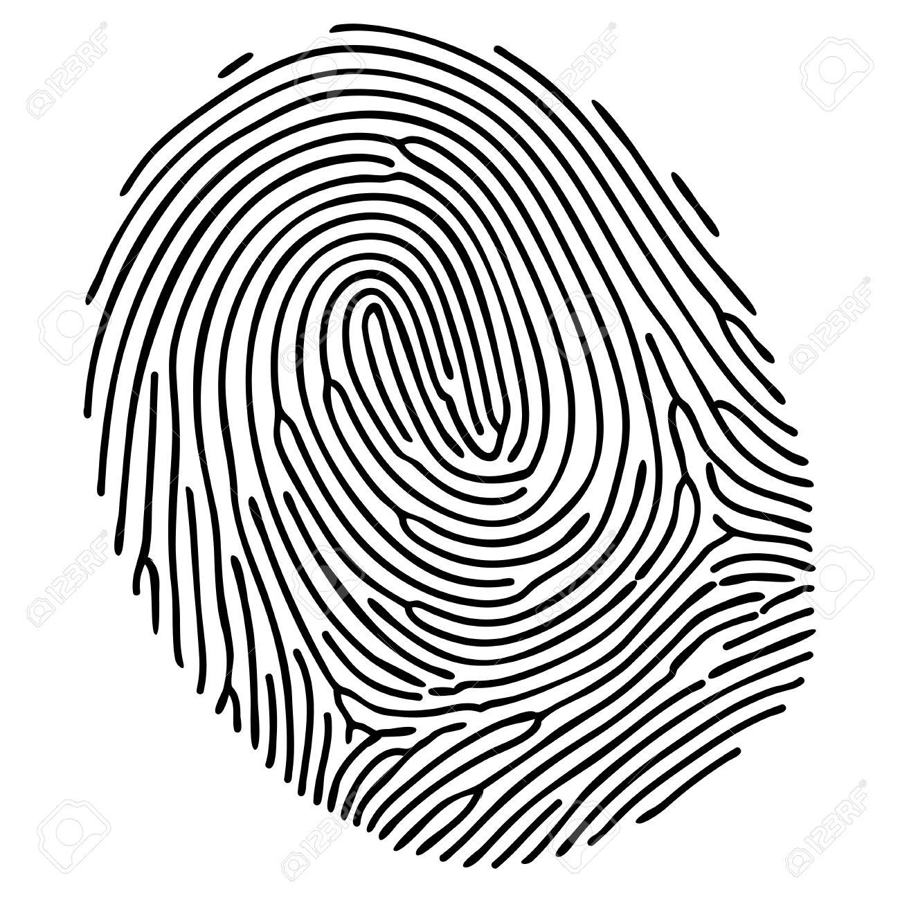vector black fingerprint on white background royalty free cliparts rh 123rf com fingerprinting victoria tx fingerprinting victoria texas