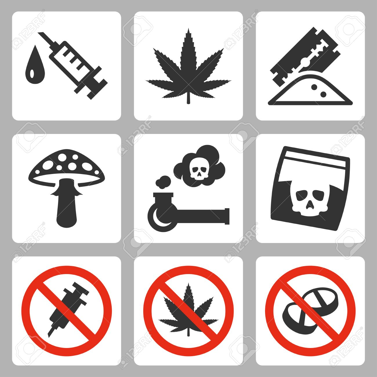 illegal drugs vector icons set royalty free cliparts vectors and stock illustration image 31058679 illegal drugs vector icons set