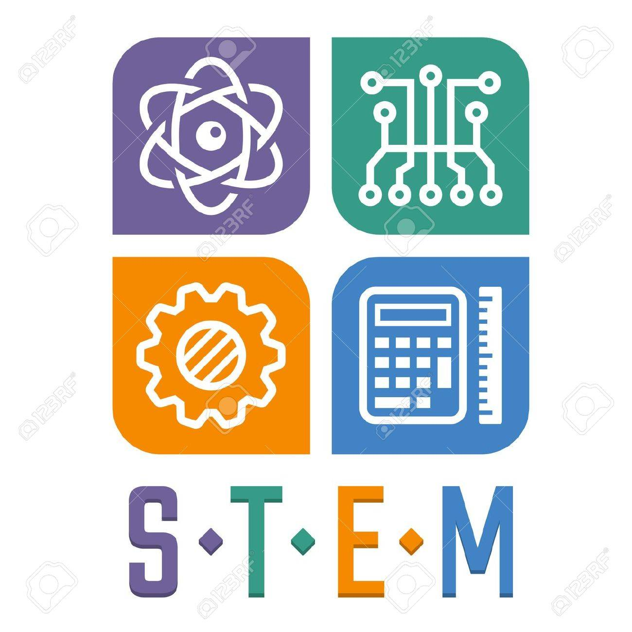 Vector Illustration Of Science, Technology, Engineering And Math ...