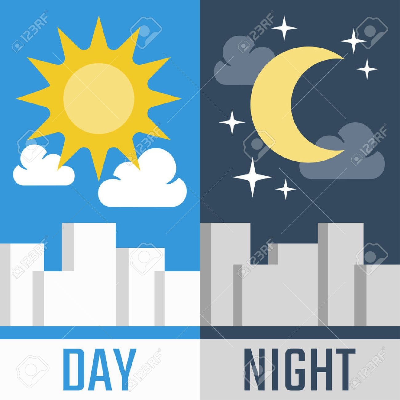 39 084 night and day cliparts stock vector and royalty free night rh 123rf com clipart day of the dead labor day clipart