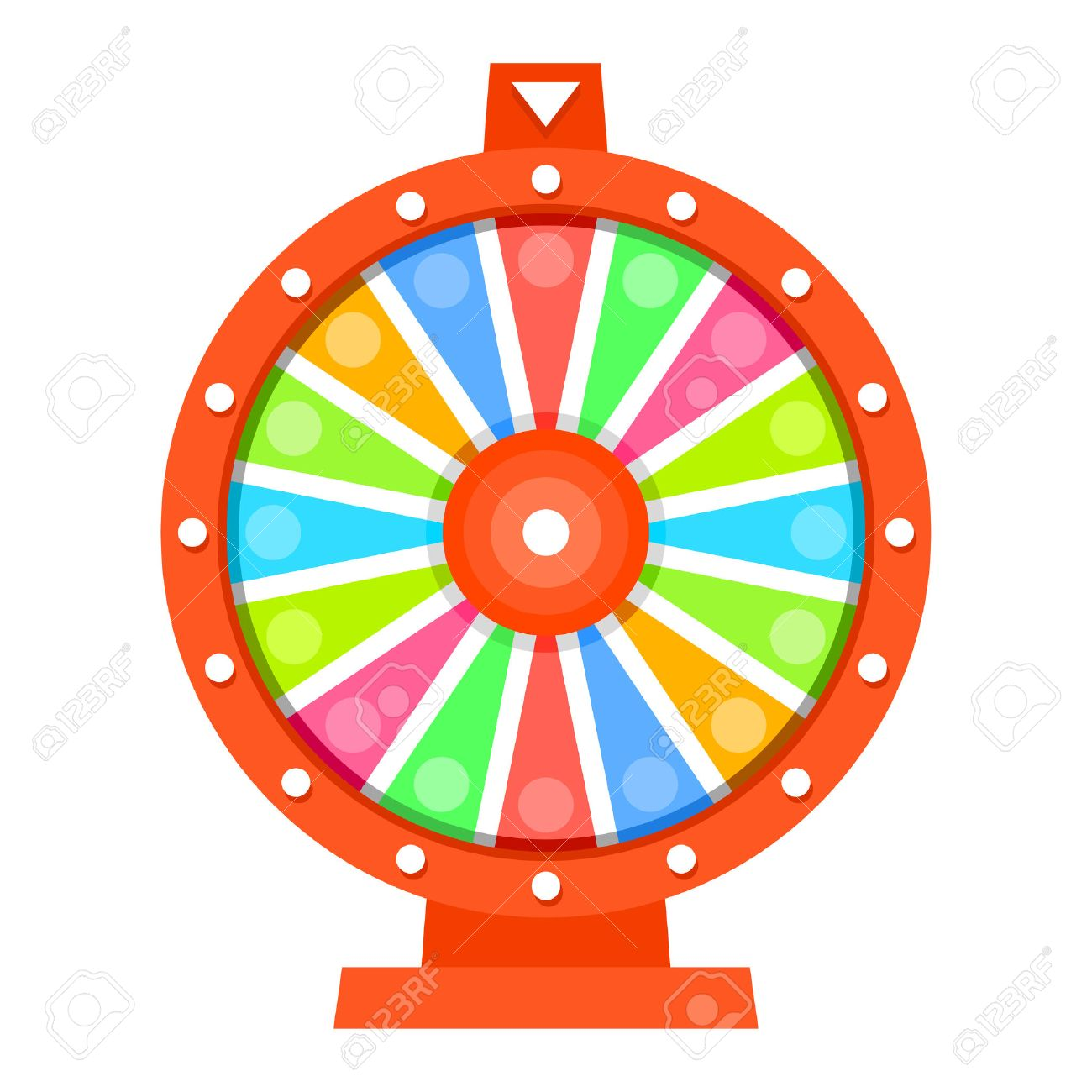wheel of fortune flat design template royalty free cliparts vectors