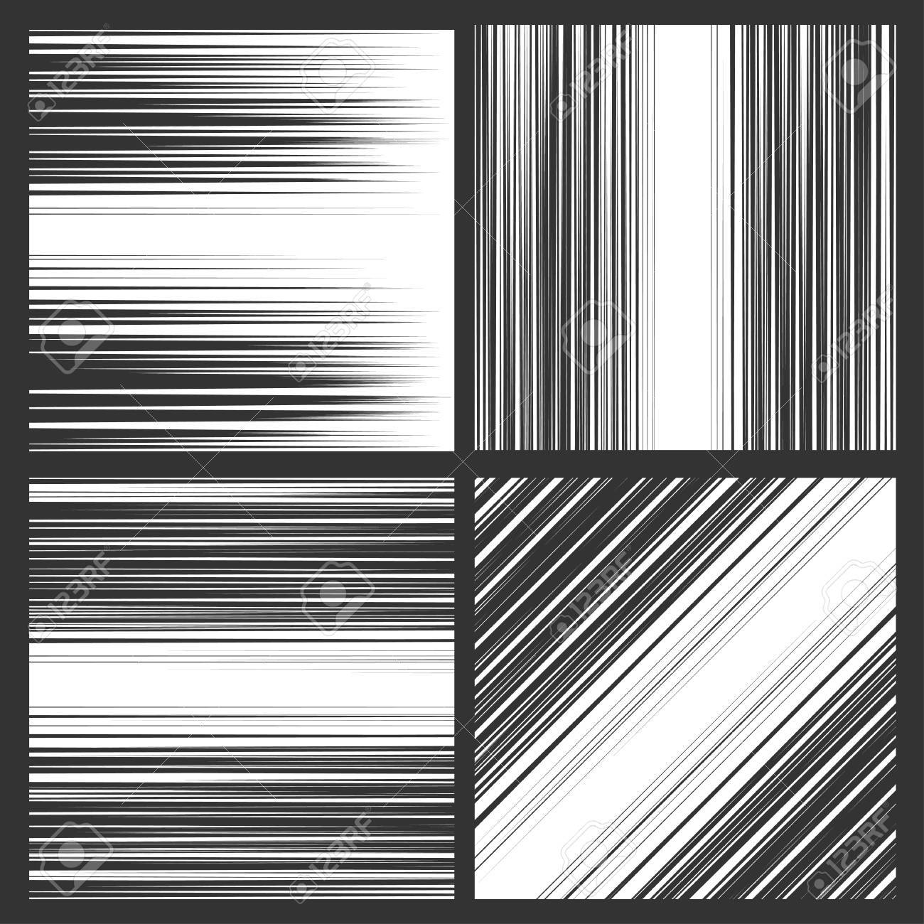 Comic book speed horizontal, vertical and diagonal lines background - 49648199
