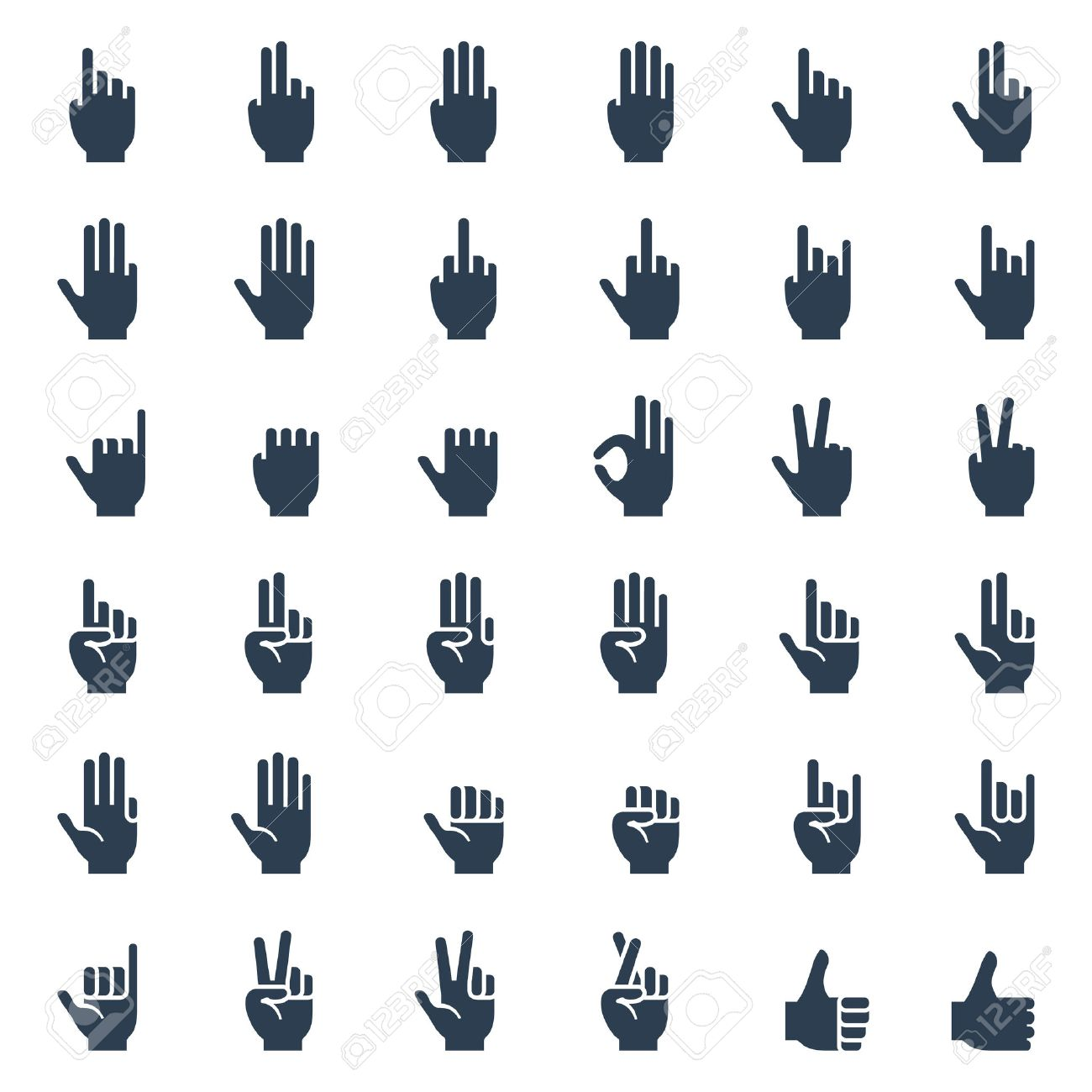3091 middle finger cliparts stock vector and royalty free middle human hand gestures signals and signs body language icon set biocorpaavc Gallery