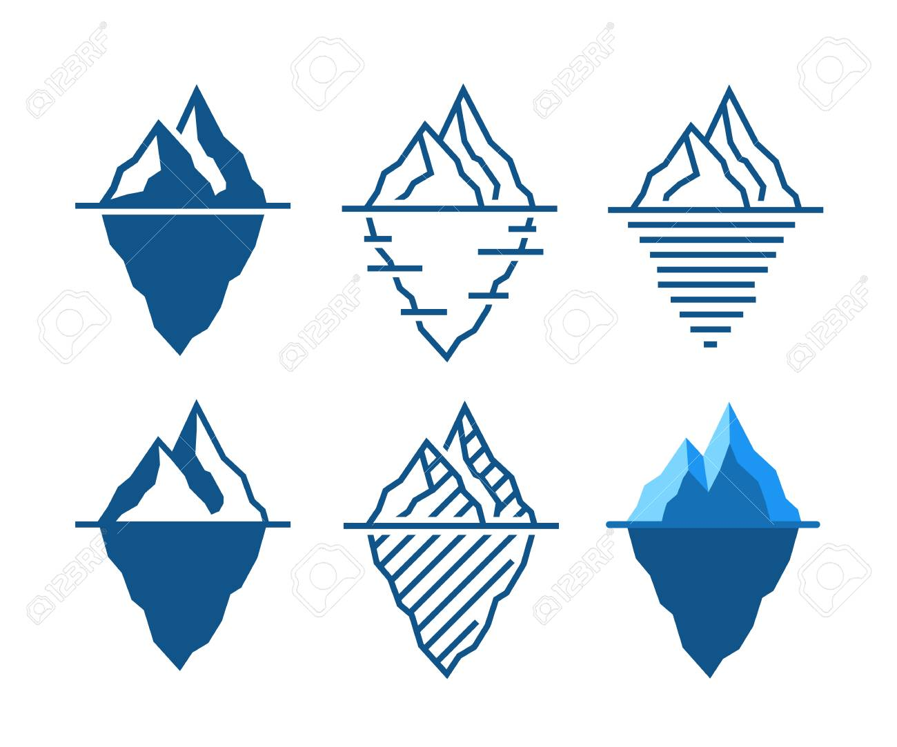 online store 26cf0 c6127 Iceberg vector icons in diffrent styles