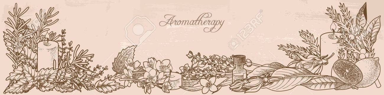 Composition made of aromatherapy herbs - 39785040