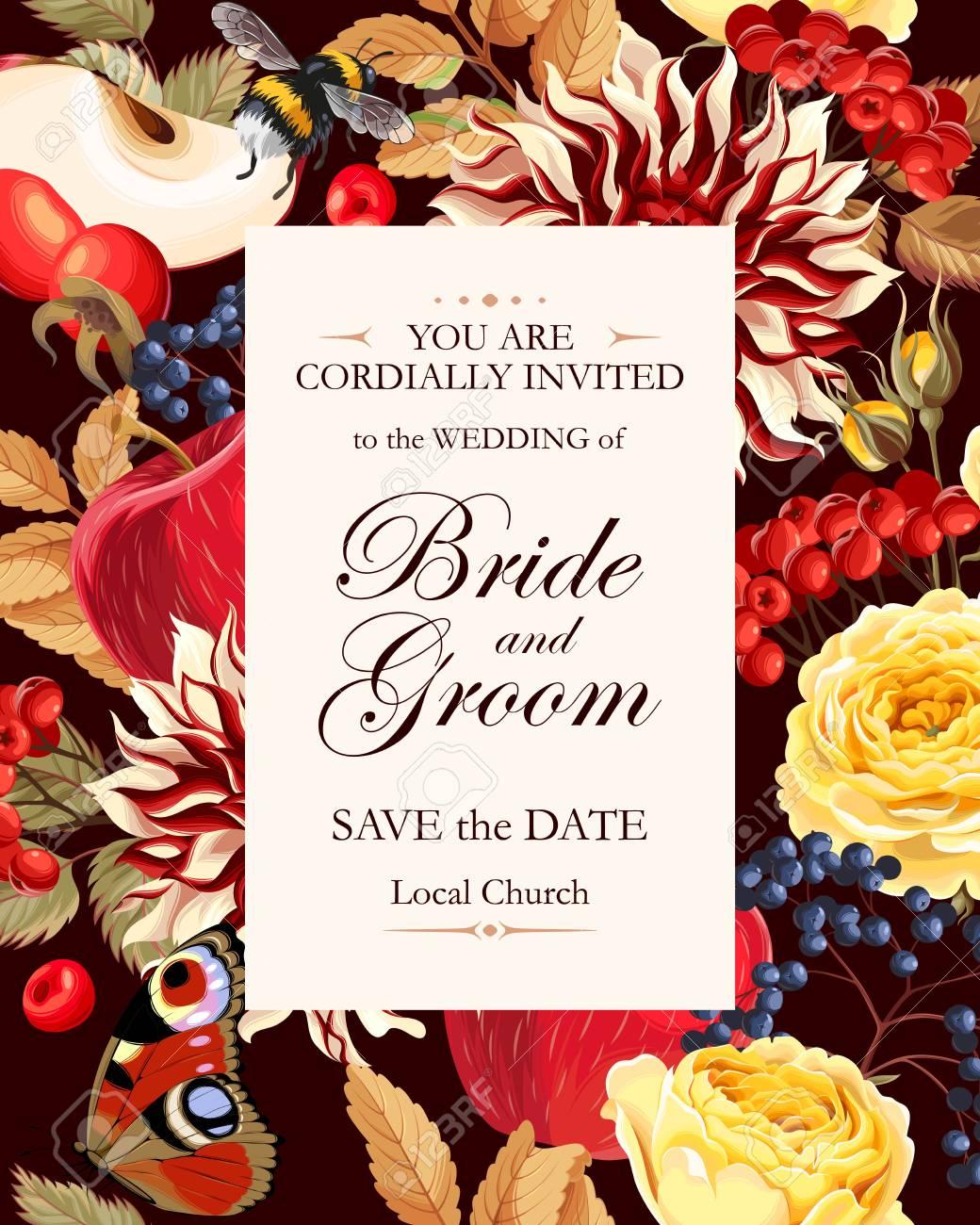 Vintage Wedding Invitation Royalty Free Cliparts, Vectors, And Stock ...