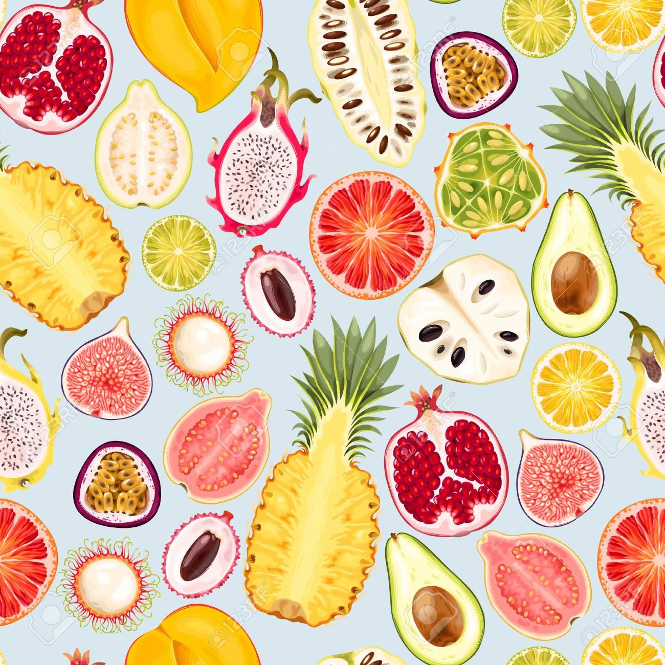 Seamless exotic friut - 101249201