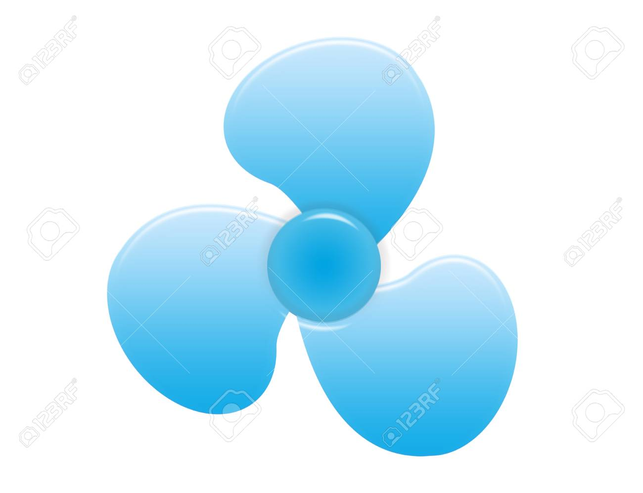blue prop ventilator isolated over white background.illustration Stock Photo - 9709530
