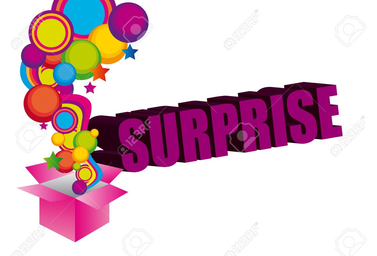 violet pink yellow blue green surprise box background