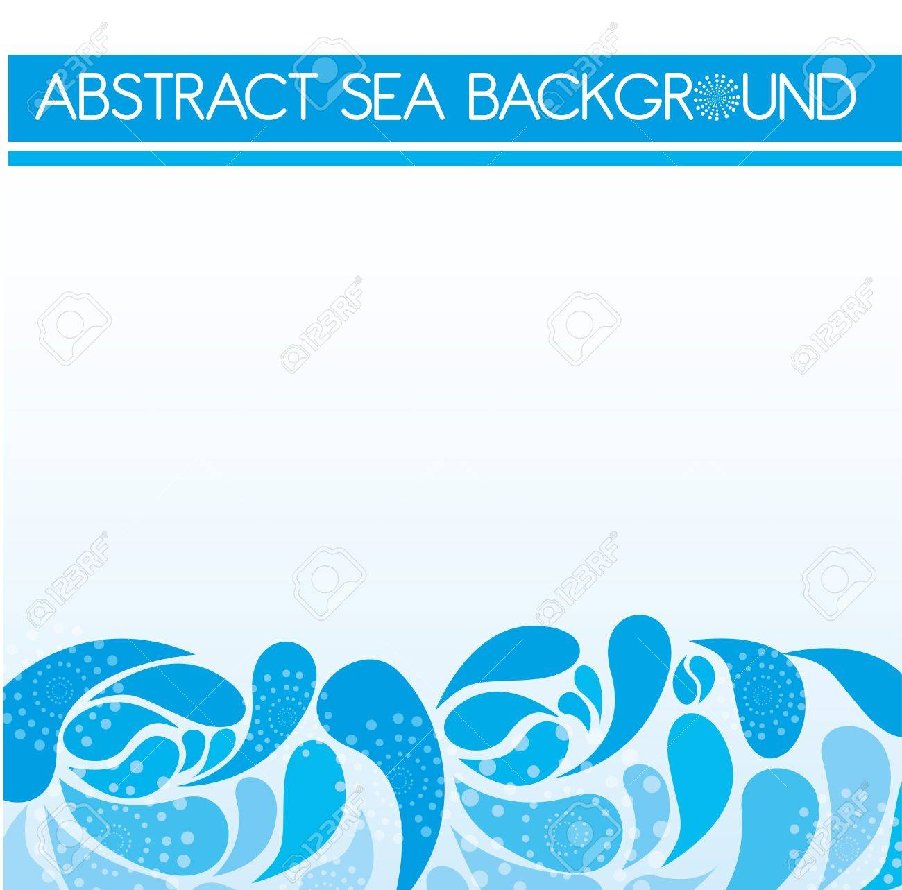 blue abstract sea over sky background. vector Stock Vector - 10768638